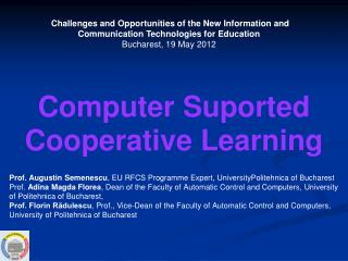 Computer  Suported  Cooperative Learning
