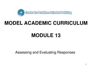 MODEL ACADEMIC CURRICULUM MODULE 13