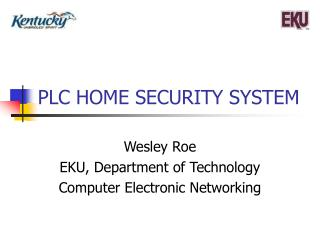 PLC HOME SECURITY SYSTEM