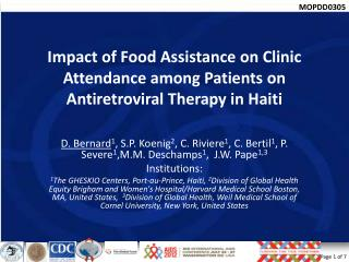 Impact of Food Assistance on Clinic Attendance among Patients on Antiretroviral Therapy in Haiti