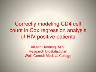 Correctly modeling CD4 cell count in Cox regression analysis of HIV-positive patients