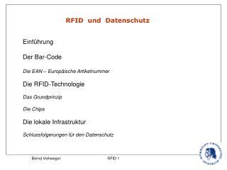 RFID  und  Datenschutz