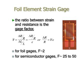 Foil Element Strain Gage