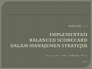 Model  Kerangka Aplikasi Manajemen Strategis