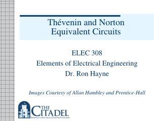 Th � venin and Norton  Equivalent Circuits