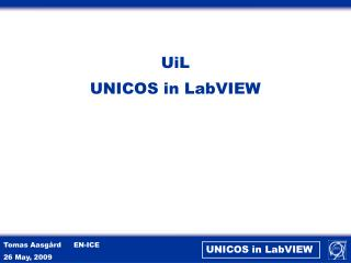 UiL UNICOS in  LabVIEW