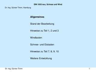 DIN 1055 neu, Schnee und Wind