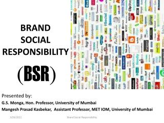 BRAND  SOCIAL RESPONSIBILITY