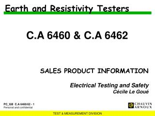 Earth and Resistivity Testers