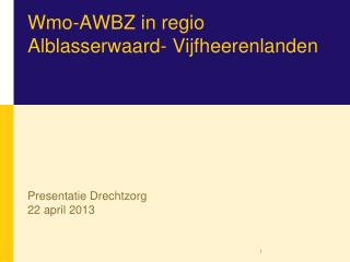 Wmo -AWBZ in  regio Alblasserwaard -  Vijfheerenlanden
