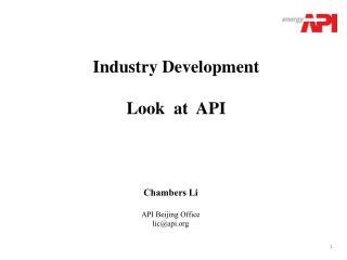 Chambers Li  API Beijing Office lic@api