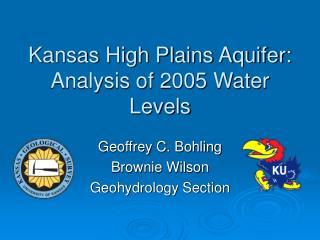 Kansas High Plains Aquifer: Analysis of 2005 Water Levels