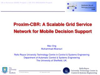 Proxim-CBR: A Scalable Grid Service Network for Mobile Decision Support