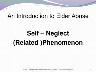 An Introduction to Elder Abuse