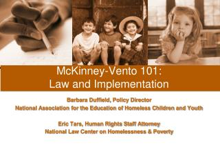 McKinney-Vento 101: Law and Implementation