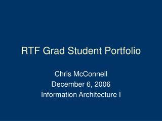 RTF Grad Student Portfolio