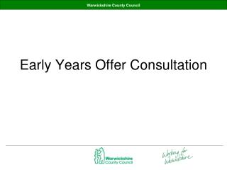 Early Years Offer Consultation