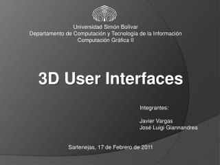 Universidad Sim ón  Bolívar Departamento de Computación y Tecnología de la Información
