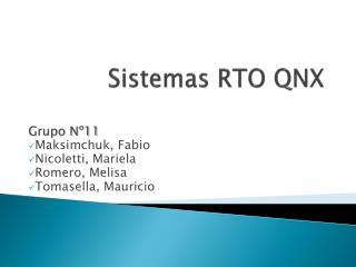 Sistemas RTO QNX