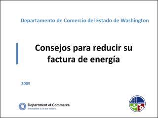 Departamento de Comercio del Estado de Washington