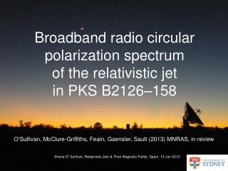 Broadband radio circular polarization spectrum  of the  relativistic jet  in PKS B2126–158