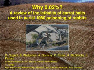 Why 0.02%?  A review of the lethality of carrot baits  used in aerial 1080 poisoning of rabbits
