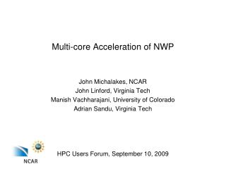 Multi-core Acceleration of NWP