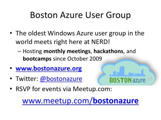 Boston Azure User Group