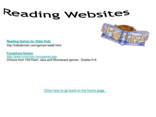 Reading Games for Older Kids kidsdomain/games/read2.html
