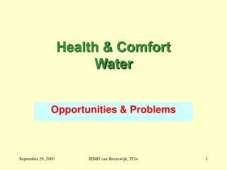 Health & Comfort Water