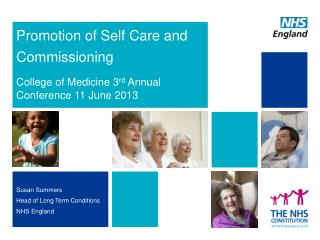 Promotion of Self Care and Commissioning