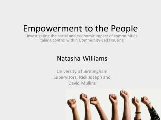 Empowerment to the People