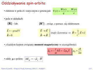 Oddzia?ywanie spin-orbita: