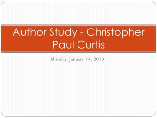 Author Study - Christopher Paul Curtis