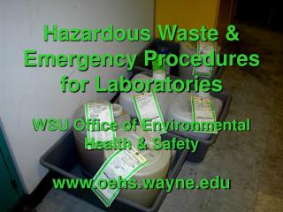 Hazardous Waste & Emergency Response Laws for Labs