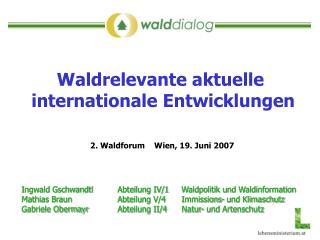 Ingwald GschwandtlAbteilung IV/1Waldpolitik und Waldinformation