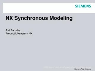 NX Synchronous Modeling