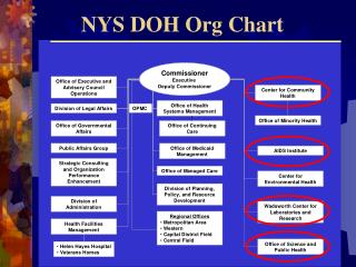 NYS DOH Org Chart