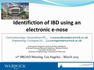 Identifiction  of IBD using an electronic e-nose