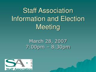 Staff Association Information and Election Meeting