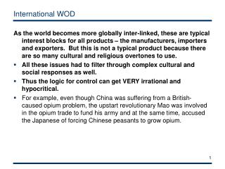 International WOD