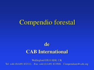 Compendio forestal