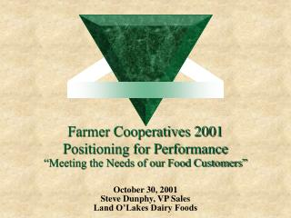 Farmer Cooperatives 2001 Positioning for Performance