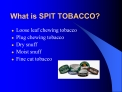 What is SPIT TOBACCO