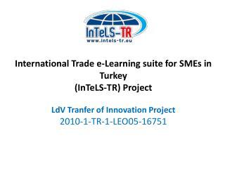 Lifelong Learning Programme Leonardo da Vinci Programme (Vocational Training)