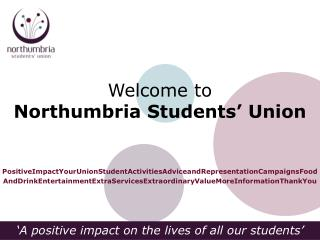 Welcome to Northumbria Students' Union