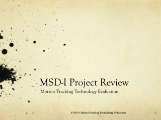MSD-I Project Review