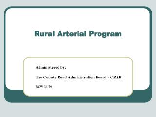 Rural Arterial Program