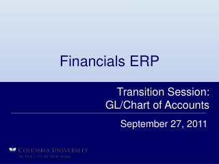 Financials ERP