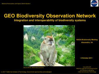 GEO Biodiversity Observation Network Integration and interoperability of biodiversity systems